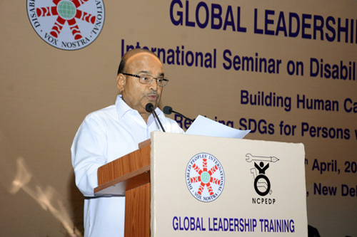 11th April, 2016, Opening Plenary: Address by  Thaawar Chand Gehlot, Hon'ble Minister for Social Justice & Empowerment, Government of India.