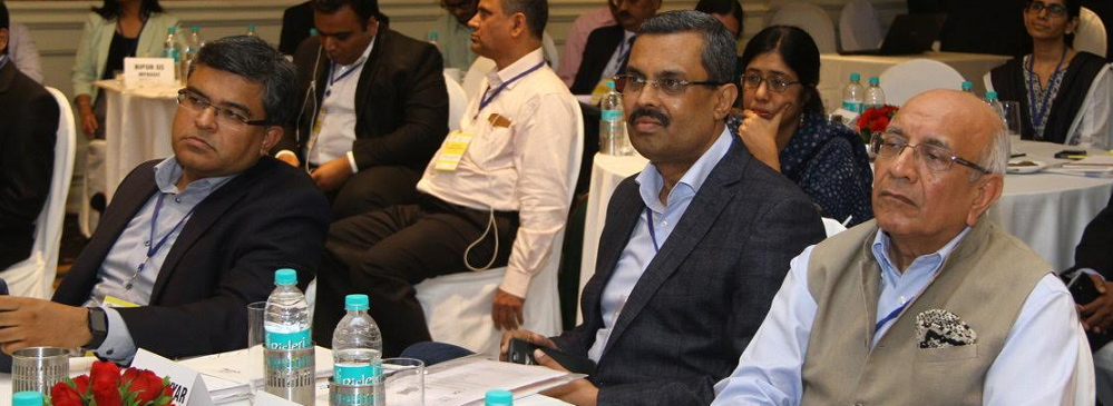 Mr. Ganesh Ayyar, CEO, Mphasis; Mr. Puneet Bhirani, CAO/CHRO, Mphasis and Mr. Som Mittal, Chairman, NCPEDP at the Roundtable on Information Accessibility held on 1st July, 2016 in Bengaluru.