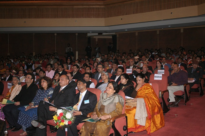 Group of people attending a conference