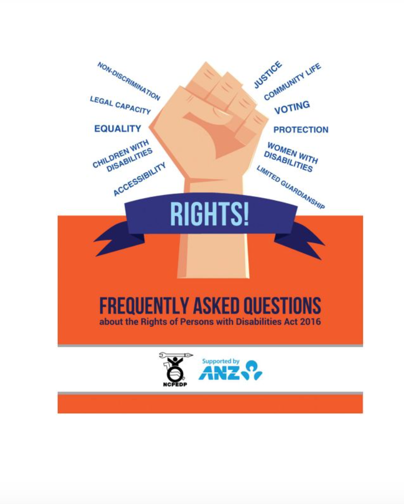 Cover page of FAQs on RPWD Act