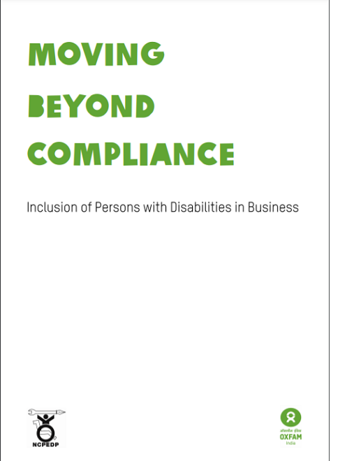 Cover page of Inclusion of Persons with Disabilities in Businesses