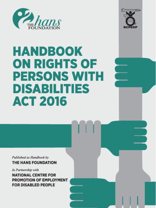 Cove page of THF Handbook on the RPWD Act, 2016