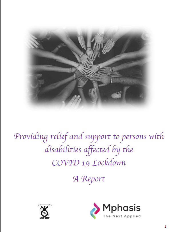 screenshot of first page of report on relief and support
