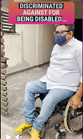Arman Ali on wheelchair.
