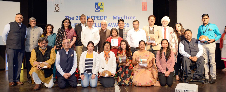 The NCPEDP-Mindtree Helen Keller awards Ceremony Group Photo